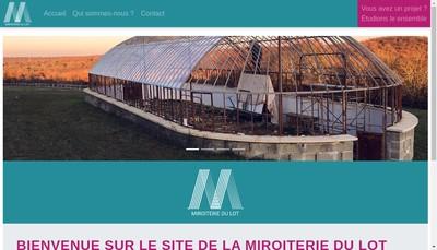 Site internet de Miroiterie du Lot