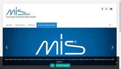 Site internet de Mis Implants Technologies France