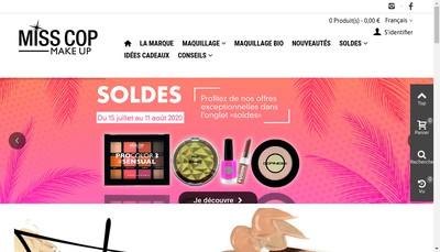 Site internet de MP Cosmetique