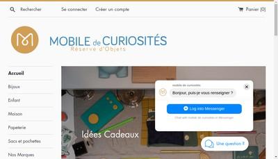 Site internet de Mobile de Curiosites