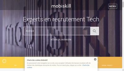 Site internet de Mobiskill Partner