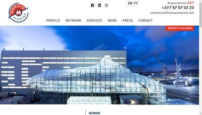 Site internet de Monaco Marine Beaulieu sur Mer