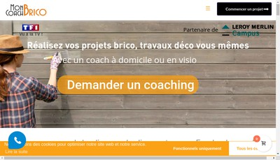 Site internet de Mon Coach Brico