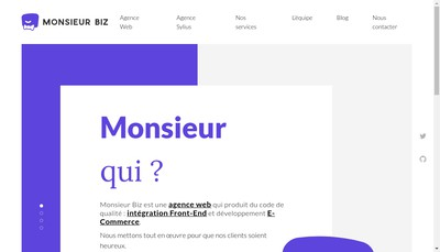 Site internet de Monsieur Biz