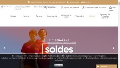 Site internet de Bonneterie Cevenole