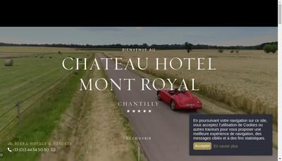 Site internet de Hotel Mont Royal SAS
