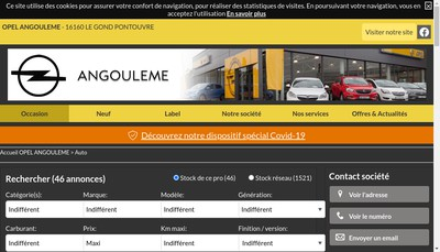 Site internet de Faurie Motor Charente