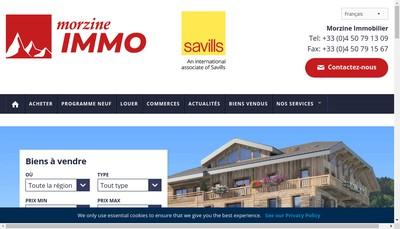 Site internet de Morzine Immobilier