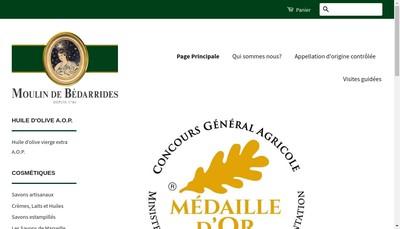 Site internet de Moulin de Bedarrides