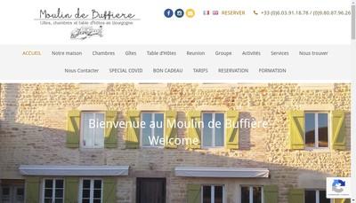 Site internet de Moulin de Buffiere