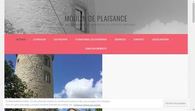 Site internet de Le Moulin de Plaisance