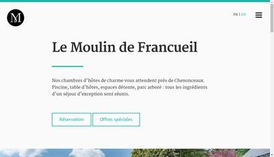 Site internet de SARL du Moulin de Francueil