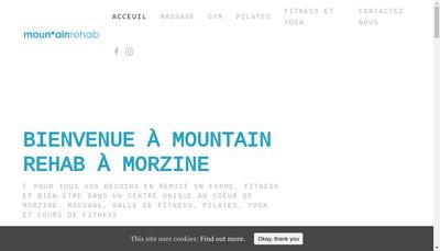 Site internet de Mountain Rehab