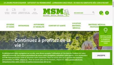 Site internet de Materiel Service Medical