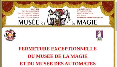 Site internet de Musee de la Magie