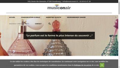 Site internet de Musiconair