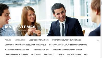 Site internet de Mv Systemes