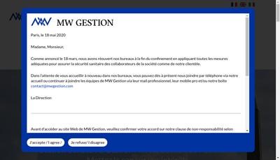 Site internet de MW Gestion SA