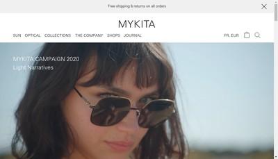 Site internet de Mykita