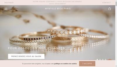 Site internet de Myrtille Beck,Paris