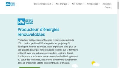 Site internet de Nass&Wind Bois Energie