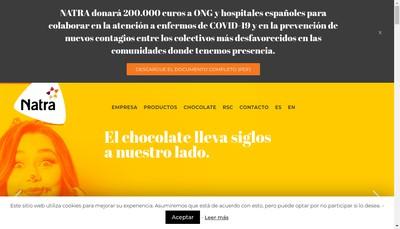 Site internet de Natra Saint Etienne