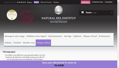 Site internet de Natural Spa Institut