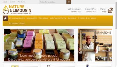 Site internet de Nature et Limousin