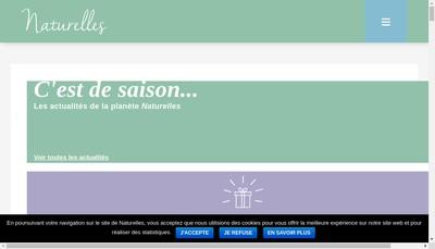 Site internet de Les Naturelles