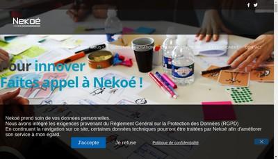 Site internet de Nekoe l'Innovation par les Services