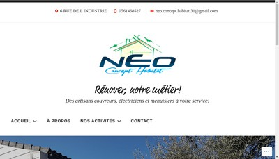 Site internet de Neo Concept Habitat