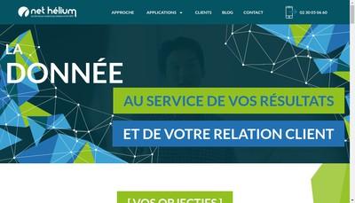 Site internet de Net Helium