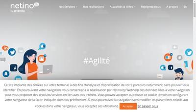 Site internet de Netino