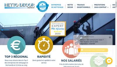 Site internet de Netto Decor Hygiene Netto Decor Proprete