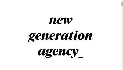 Site internet de New Generation Agency