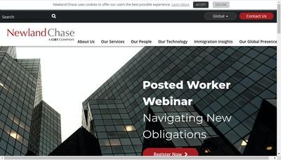 Site internet de Newland Chase France SARL