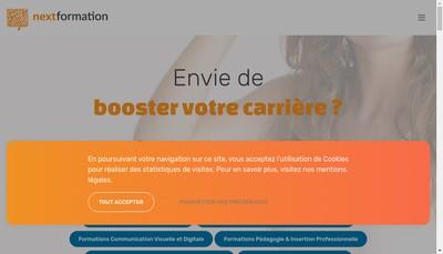 Site internet de Next Formation