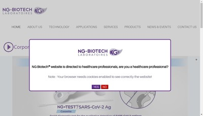 Site internet de Ng Biotech