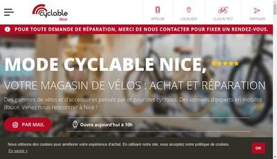 Site internet de Mode Cyclable
