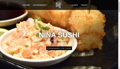 Site internet de Nina Sushi
