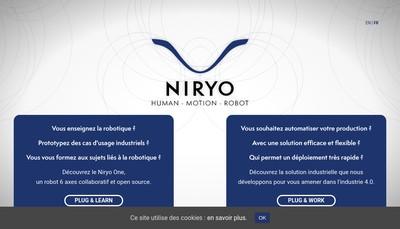 Site internet de Niryo