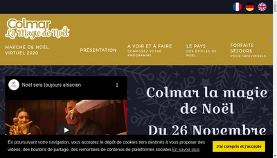 Site internet de La Magie de Noel