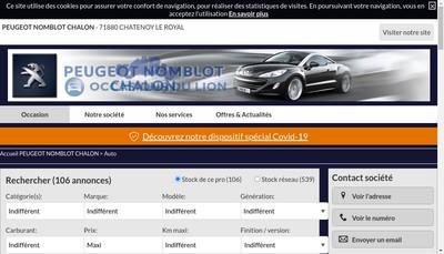 Site internet de Peugeot Nedey