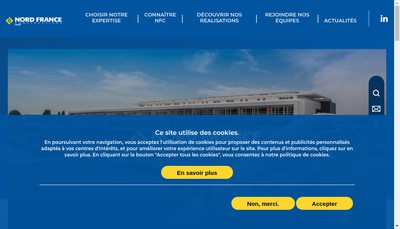 Site internet de Nord France Constructions