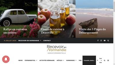 Site internet de Recevoir en Normandie