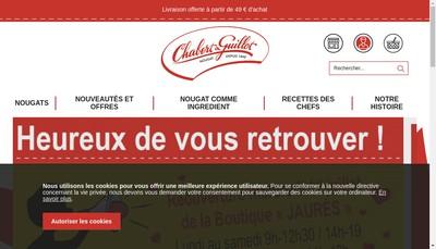 Site internet de Nougat Chabert & Guillot