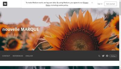 Site internet de Nouvelle Marque