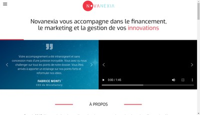 Site internet de Novanexia