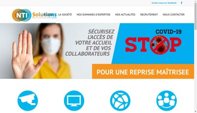 Site internet de Nti Solutions Idf