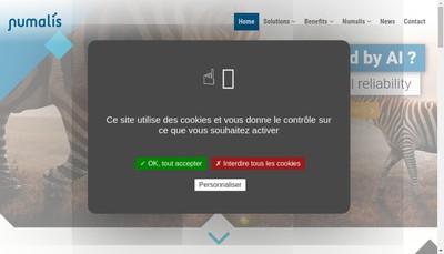 Site internet de Numalis